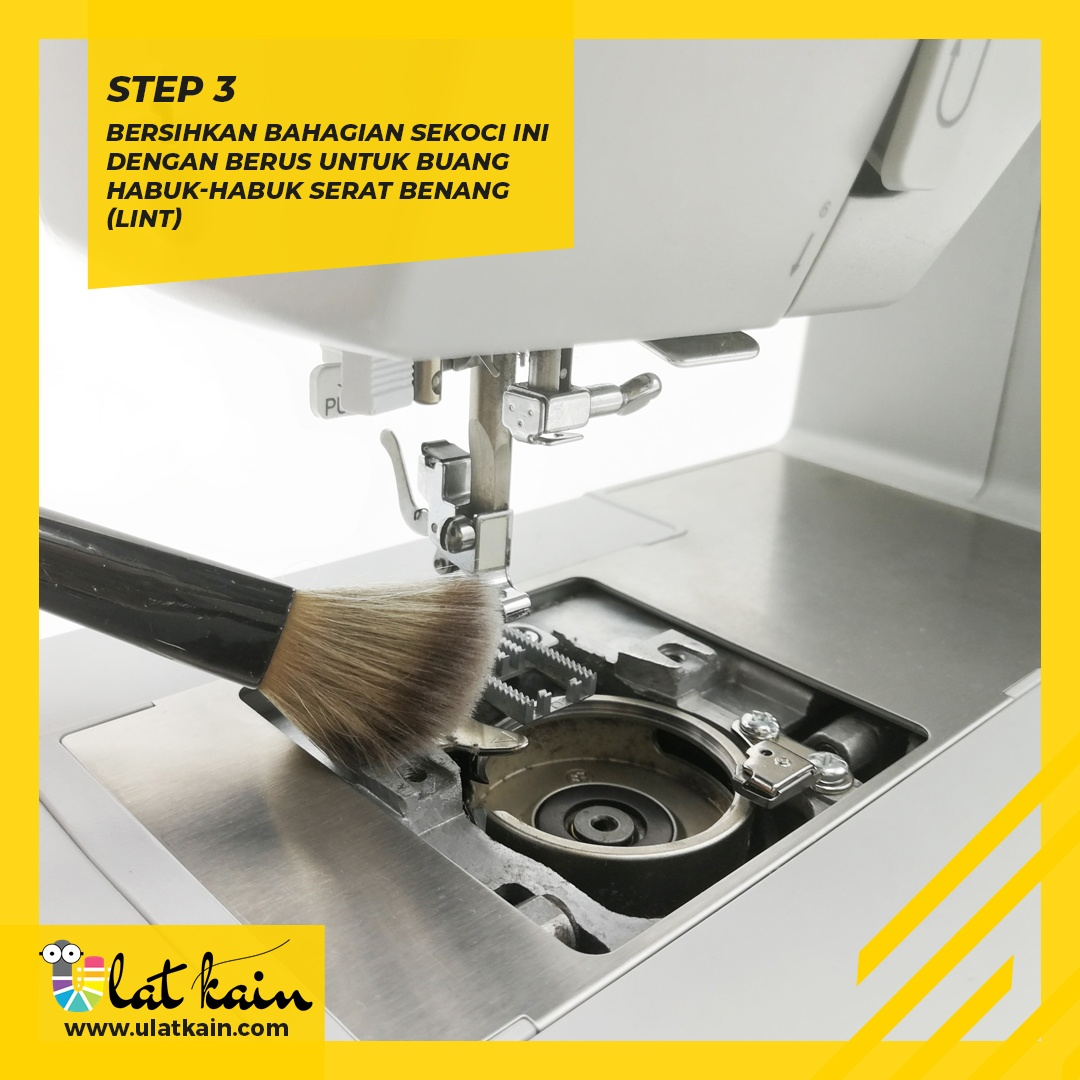 Tips Bersihkan Mesin Jahit