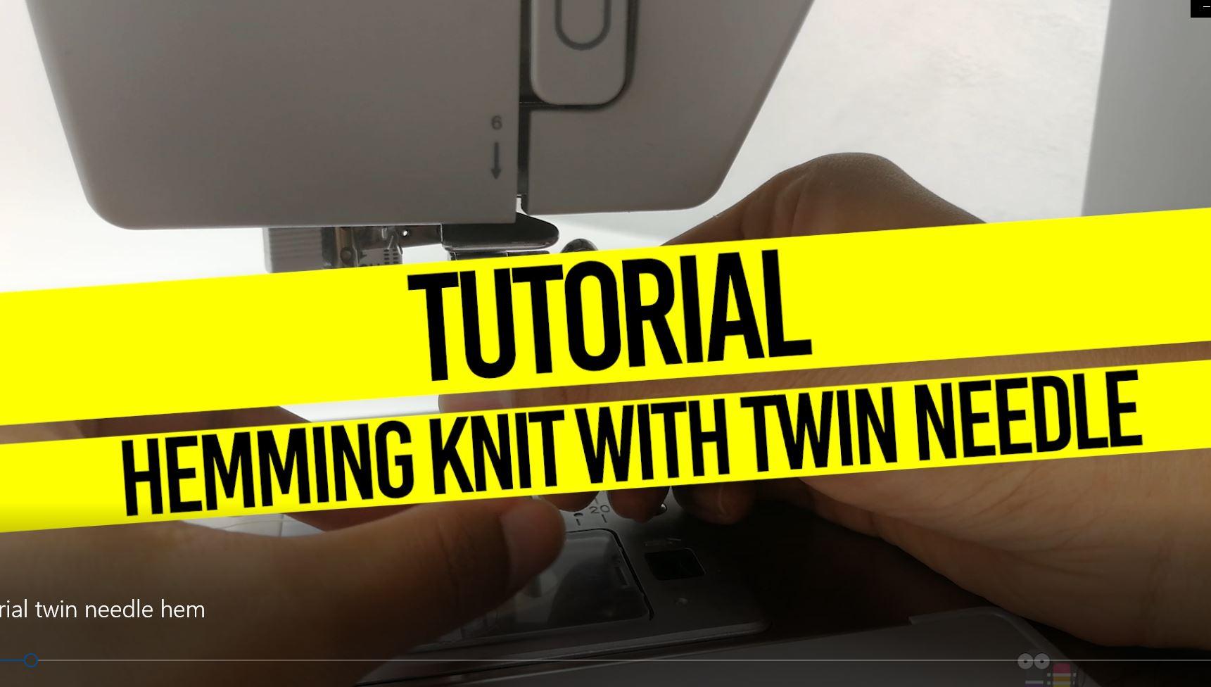Tutorial: Jahit Hem Pada Kain Knit Dengan Twin Needle